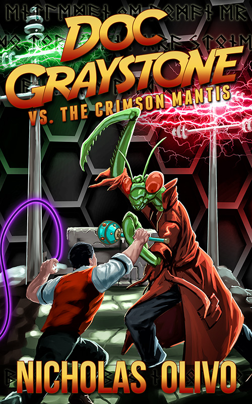 Doc-Graystone-vs-The-Crimson-Mantis-800 Cover reveal and Promotional